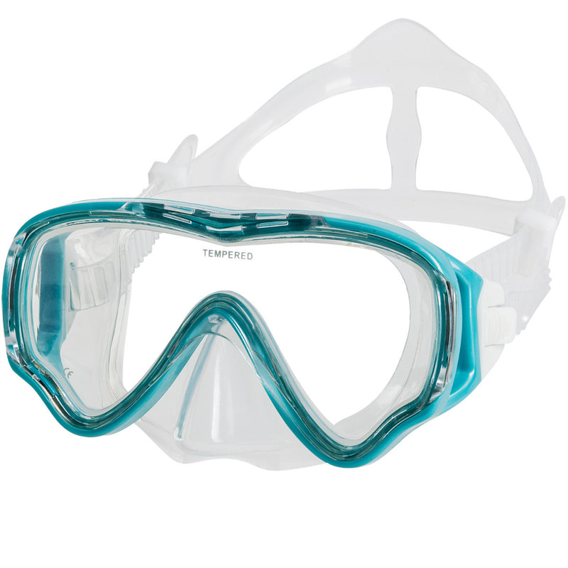 IST CCSJ101101 Kids Single Lens Mask & Semi-Dry Top Snorkel Set