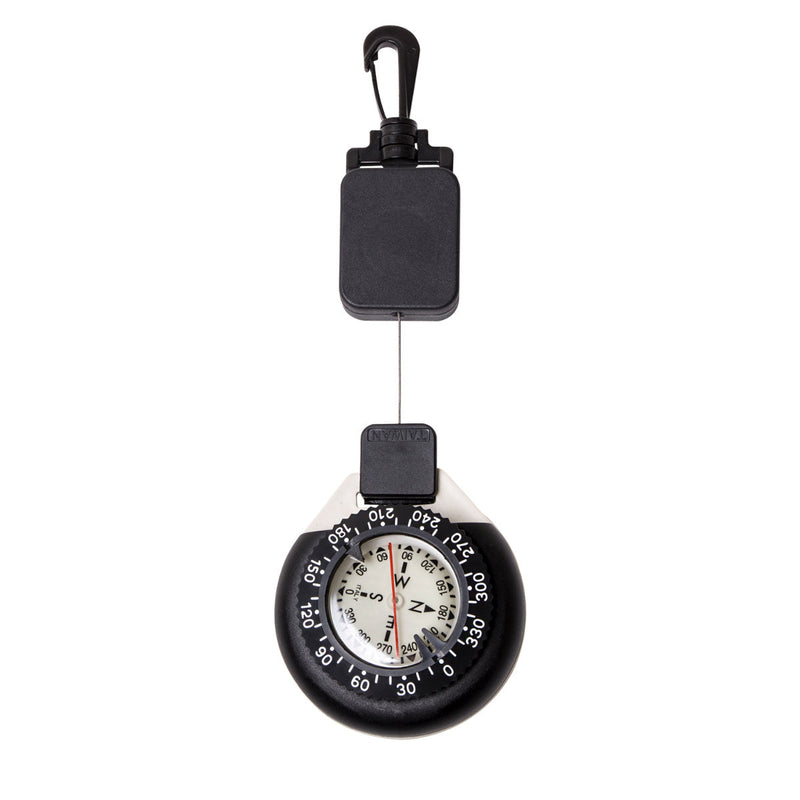 Large Glow in the Dark Retractor Dive Compass With Slate