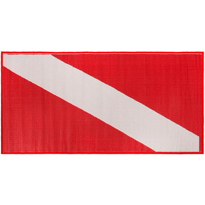Woven Beach Dive Mat Rolls Up for Easy Carry 34 x 70 Inches
