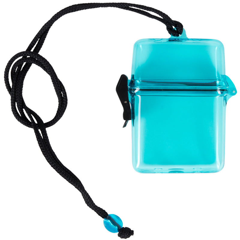 Waterproof Snap Lock Canister With Gasket Seal & Adjustable Hanging Cord
