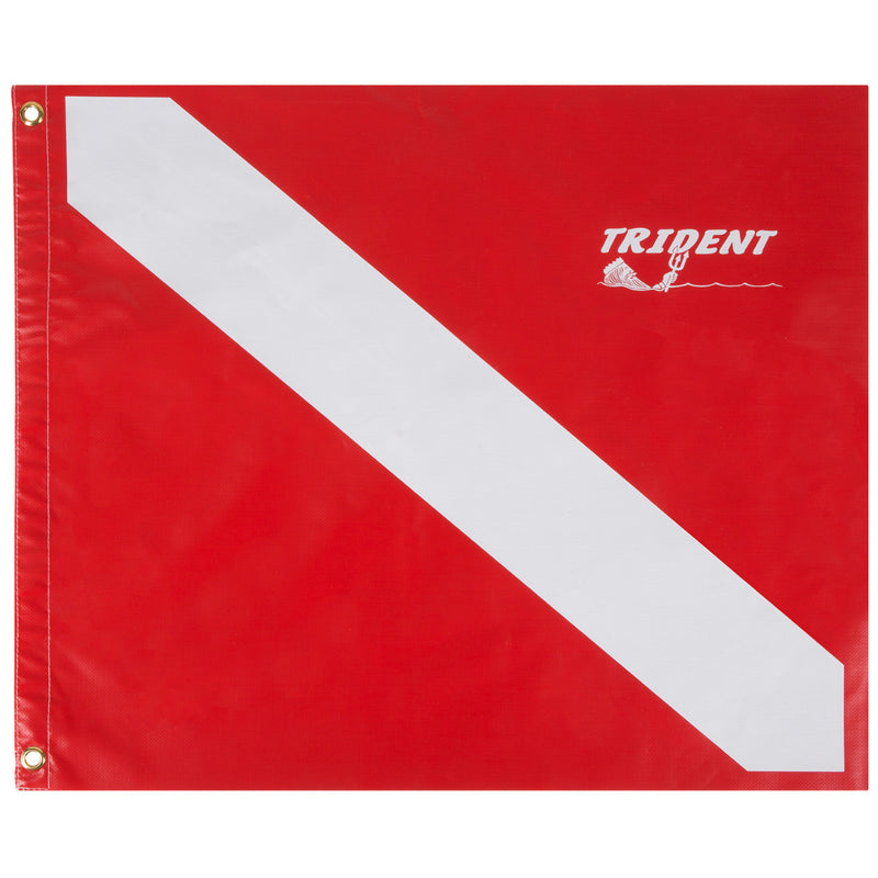 Trident Heavy Duty 20 x 24 Inch Diver Down Flag, USCG Regulation Size