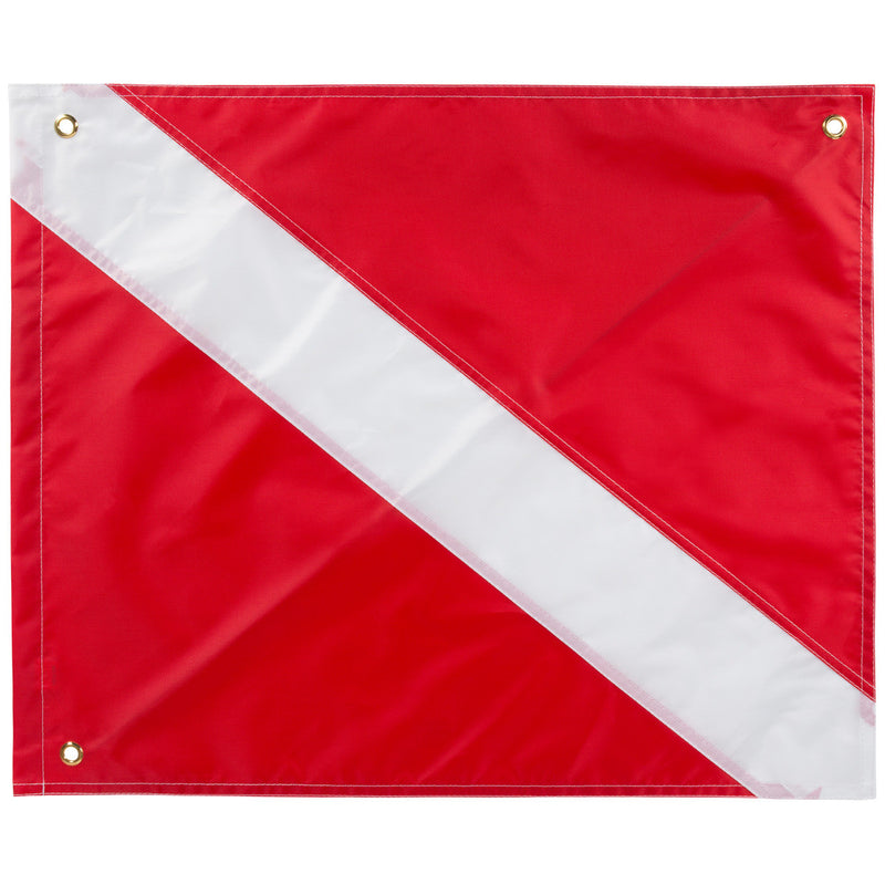 Trident 14 x 16 Inch Diver Down Flag, Multi Panel Construction