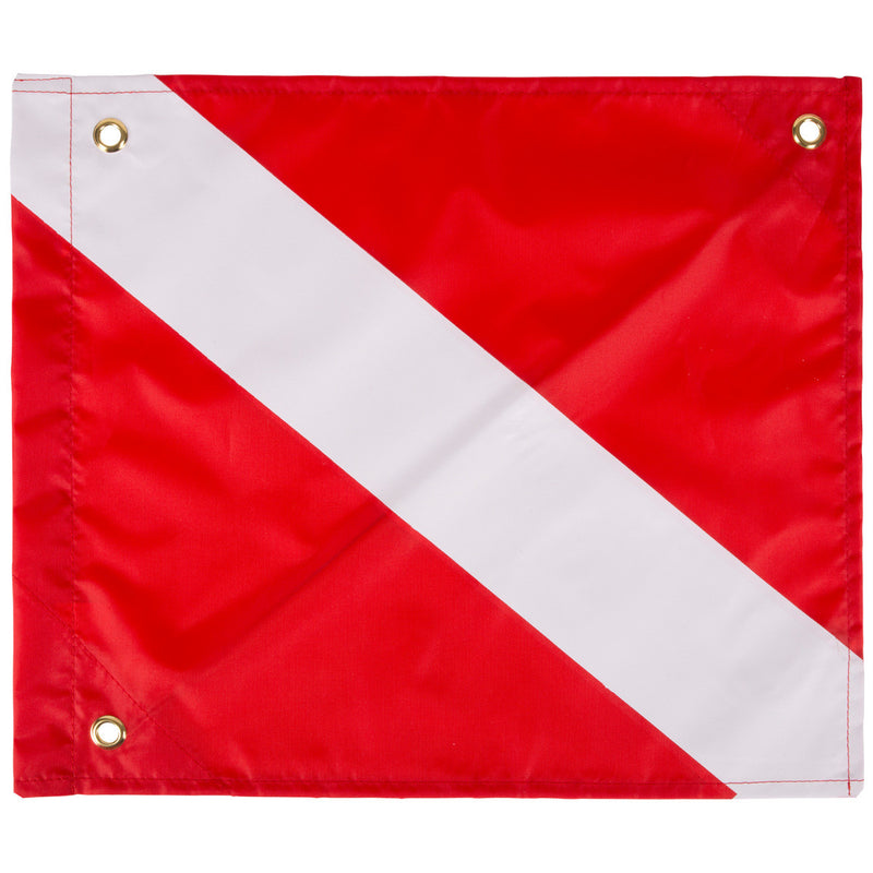 Trident Economy 14 x 16 Inch Diver Down Flag With Sleeve And Stiffener