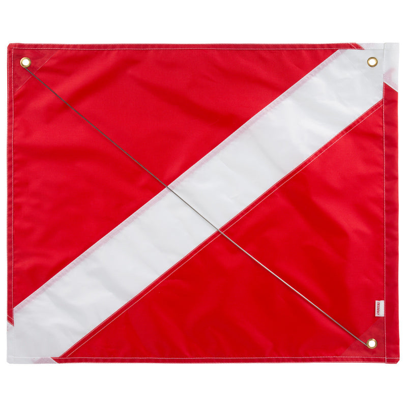 Trident 24 x 26 Inch Diver Down Flag, Multi Panel Construction