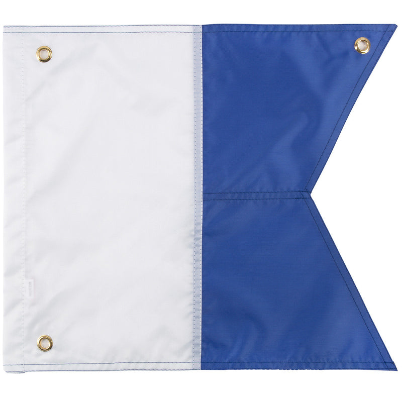 Trident 14 x 16 Inch Blue and White Alpha Flag, Multi Panel Construction