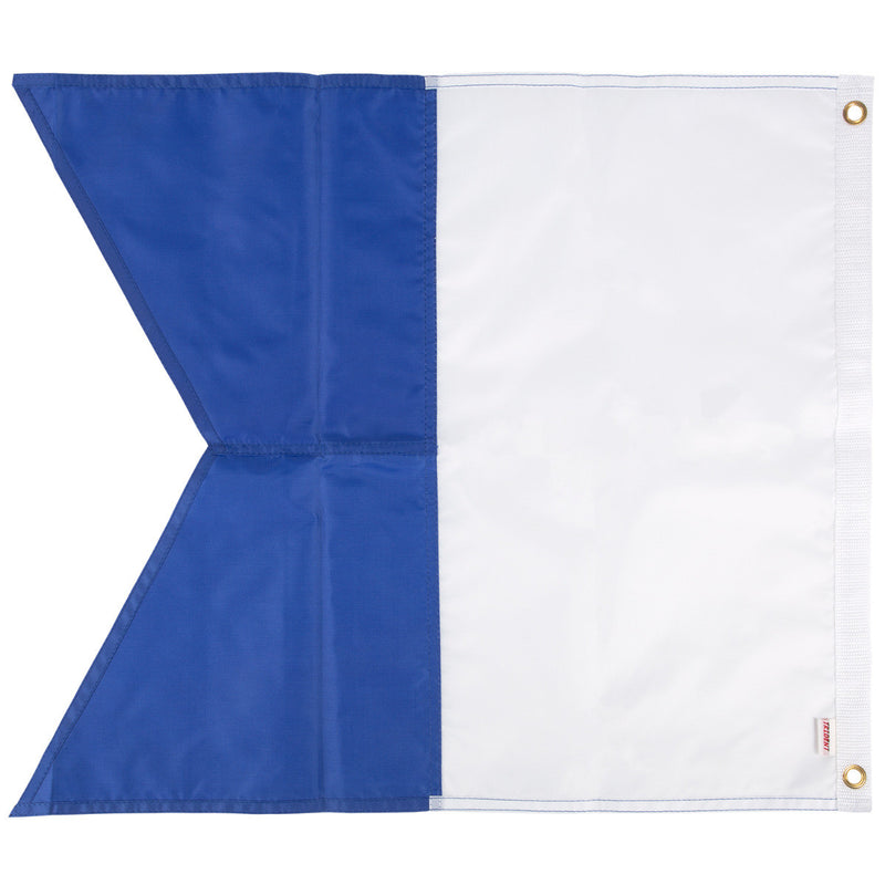 Trident 28 x 36 Inch Blue and White Alpha Flag, Multi Panel Construction