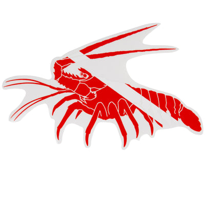 Trident Graphic Ocean Large Die Cut SCUBA Sticker: 8 x 5 Inch, Pacific Lobster