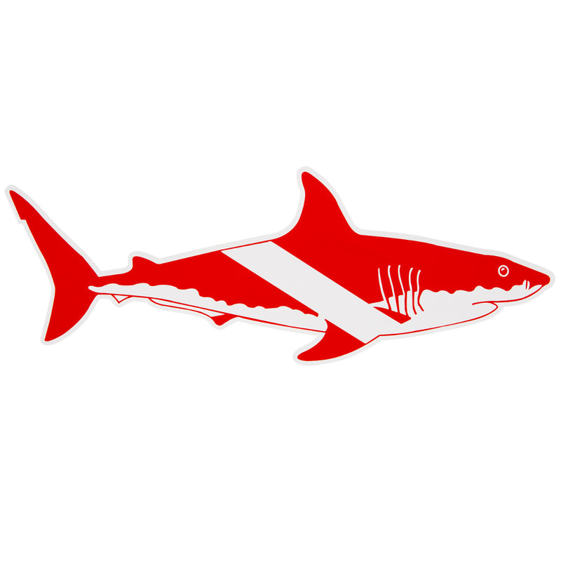 Trident High Gloss Vinyl SCUBA Sticker: 4 x 1.7 Inch Shark