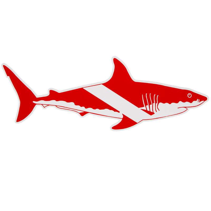Large Trident High Gloss Vinyl SCUBA Sticker: 12 x 5 Inch Shark