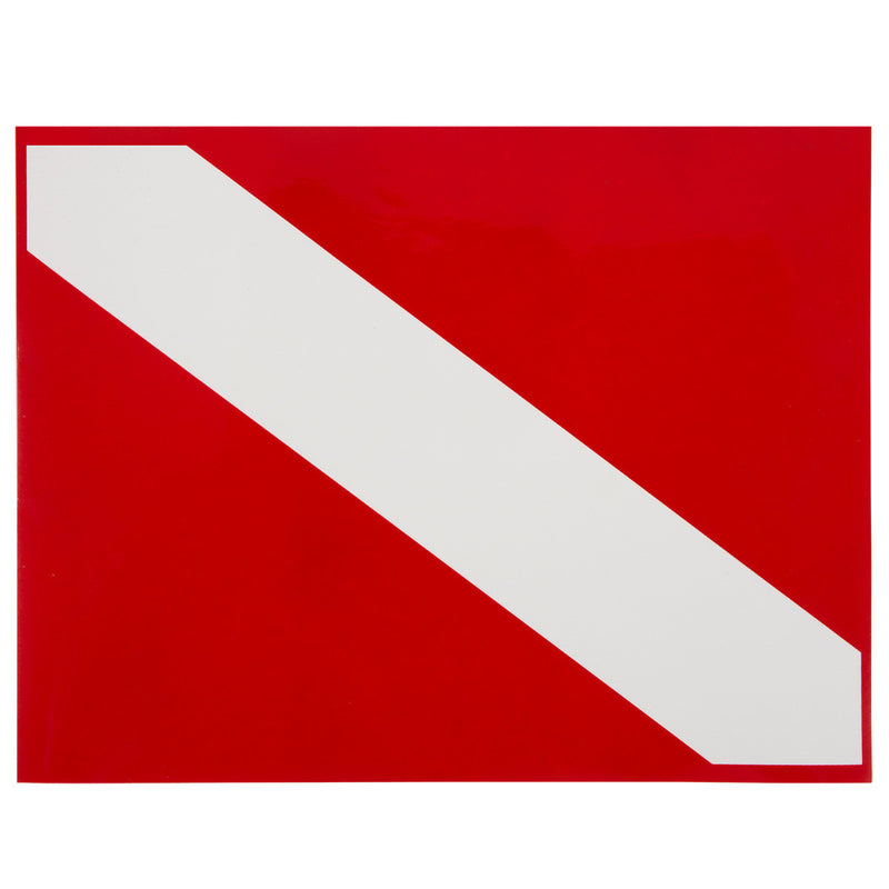 High Gloss Vinyl SCUBA Sticker: 8.5 x 11 Inch, Diver Down Flag