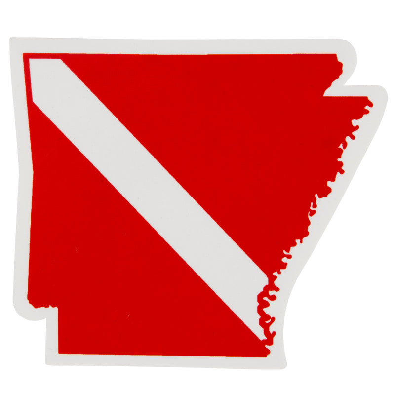 Trident High Gloss Vinyl SCUBA Sticker: 3.5 x 3 Inch, Arkansas