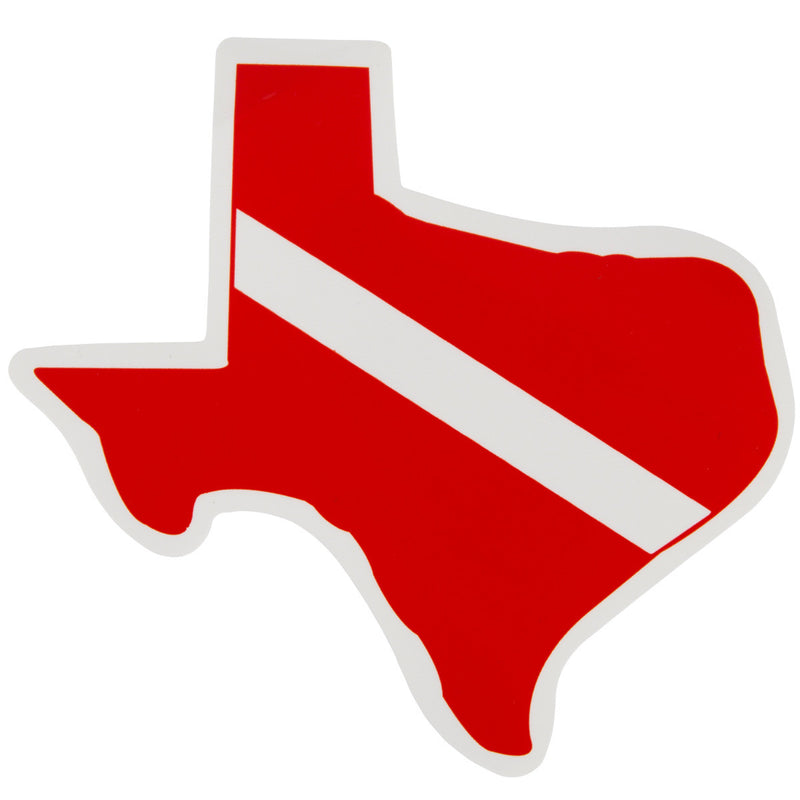 Trident High Gloss Vinyl SCUBA Sticker: 4.5 x 3.375 Inch, Texas
