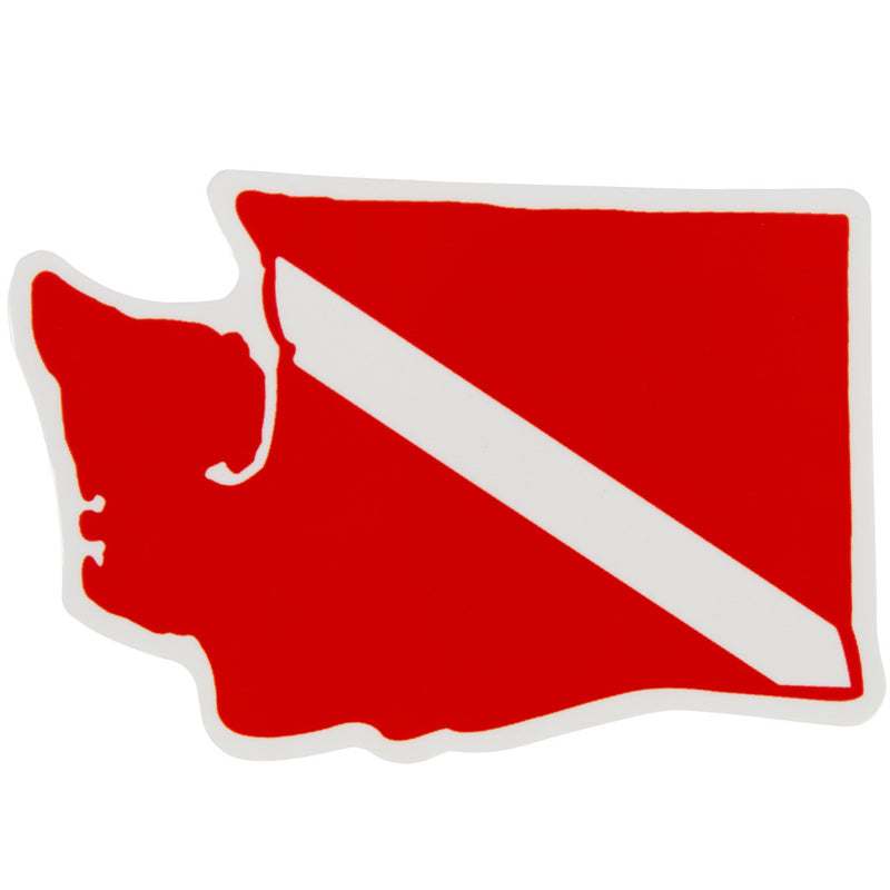 Trident High Gloss Vinyl SCUBA Sticker: 3 x 2 Inch, Washington