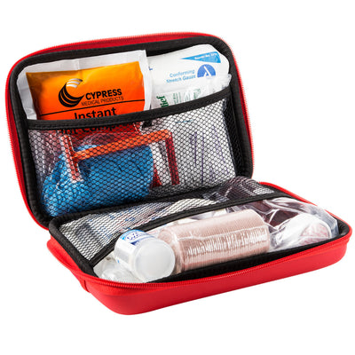 Dive 1st Aid Sting Relief Plus Kit with Guide in Zippered Hard Case