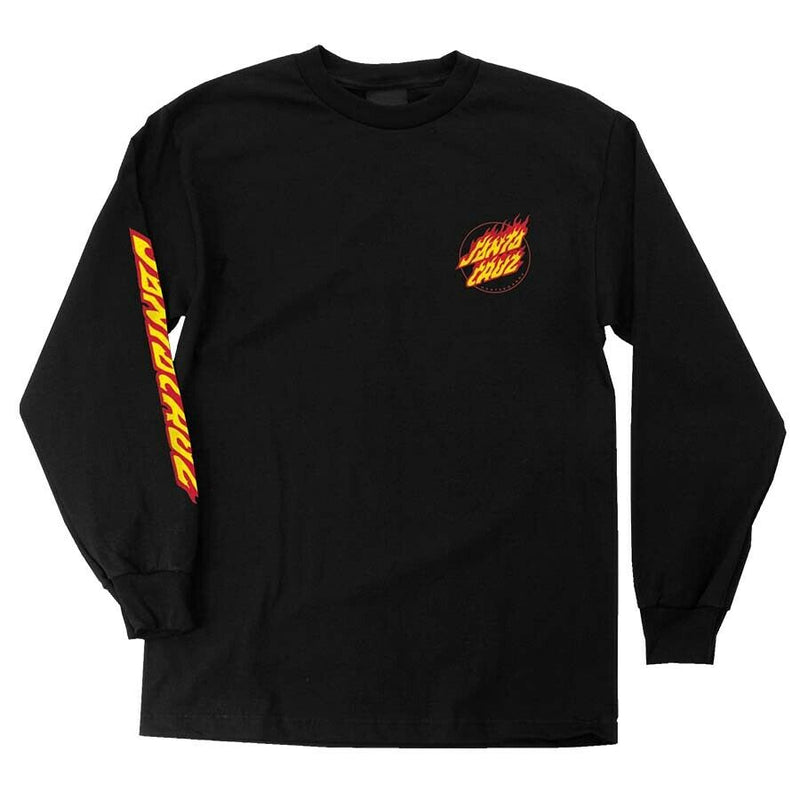Santa Cruz Men's Flame Hand L/S T-Shirt