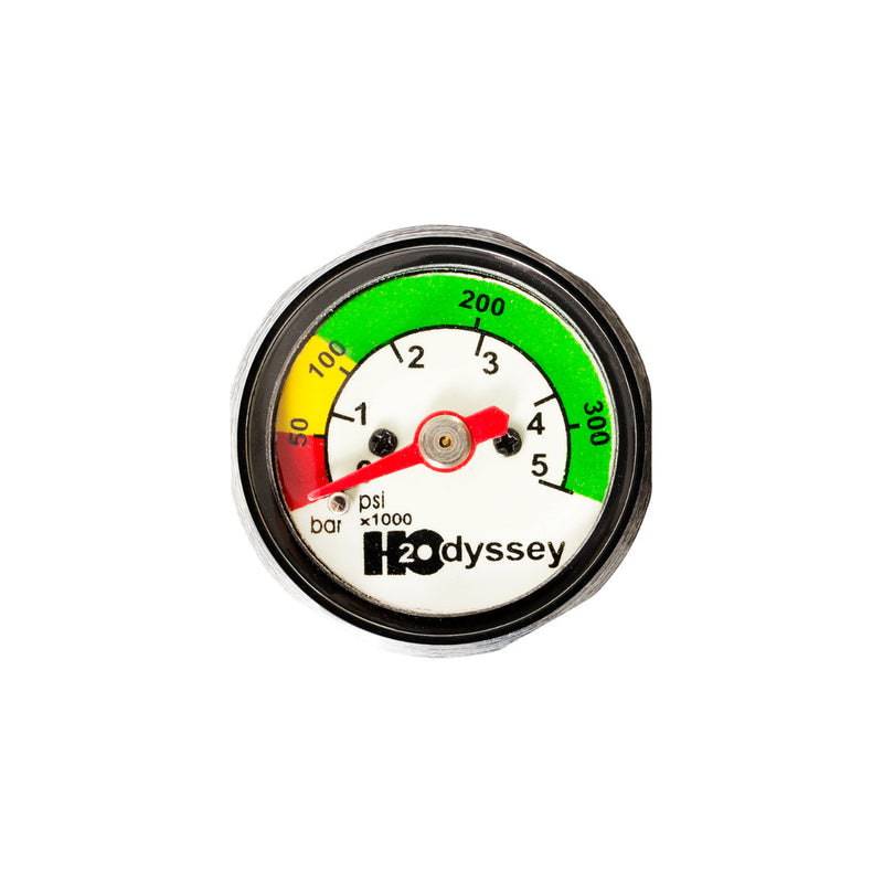 H2Odyssey Screw In Color Coded Poly Pressure Gauge, 5000 PSI