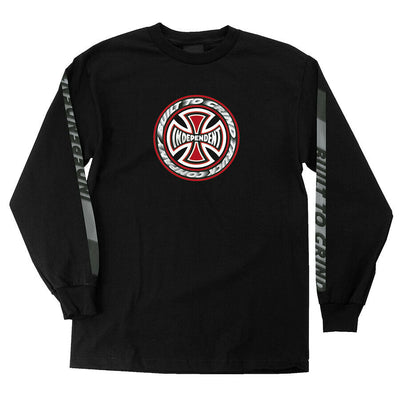 Independent T/C Blaze Long Sleeve Regular Black T-Shirt