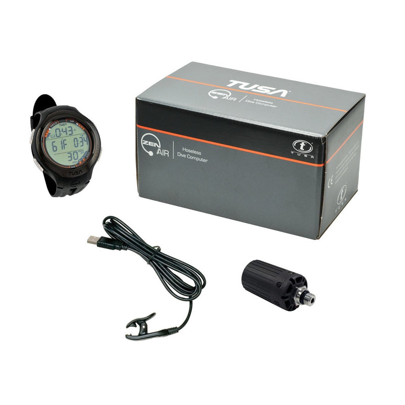 TUSA Zen Air Hoseless 3 Transmitter, 3 Mix Wristwatch Dive Computer - Black