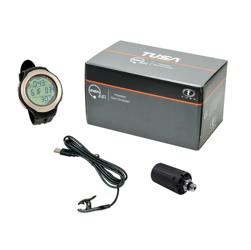 TUSA Zen Air Hoseless 3 Transmitter, 3 Mix Wristwatch Dive Computer