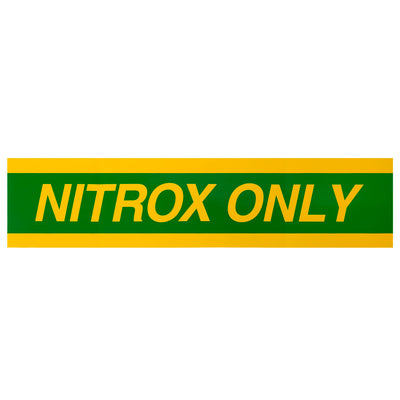 Trident Durable NITROX Tank Wrap Sticker for Full Size Tank
