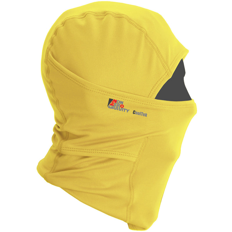 yellow summer balaclava for cycling