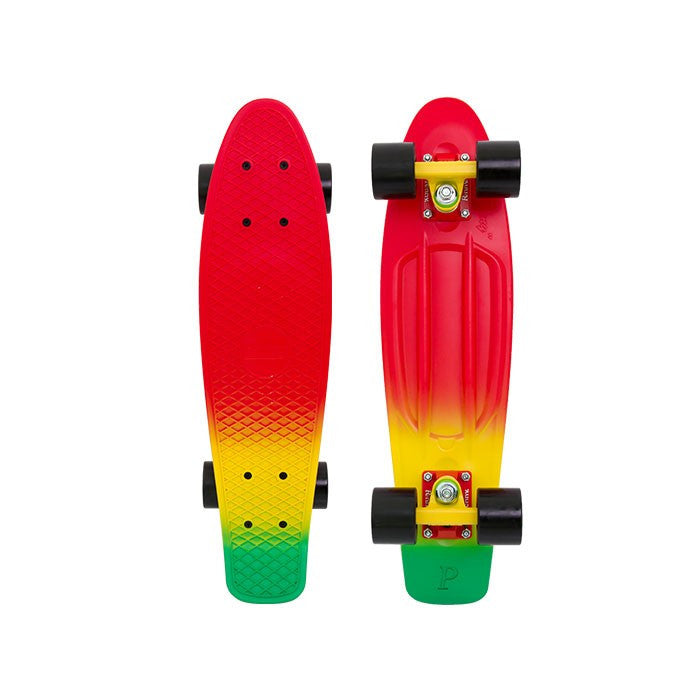 Penny 22 Inch Plastic Waffle Top Mini Cruiser: Red Down