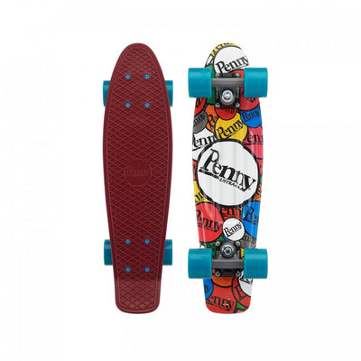 Penny 22 Inch Plastic Waffle Top Mini Cruiser: Sticker Slap