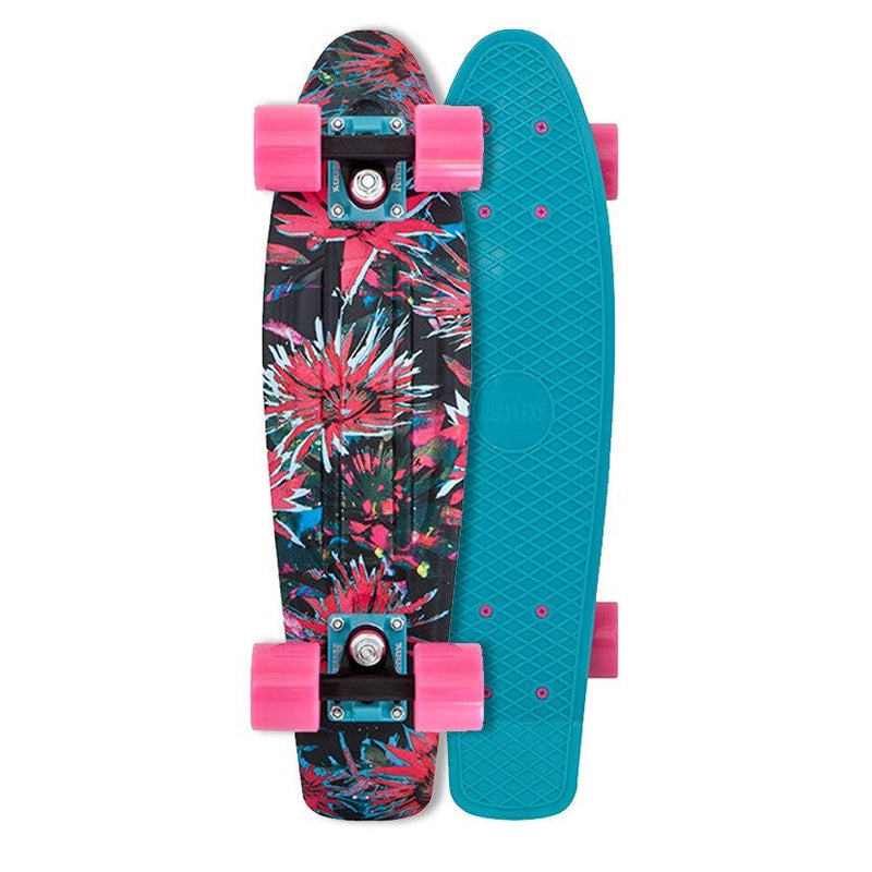 Penny 22 Inch Plastic Waffle Top Mini Cruiser: Bloom