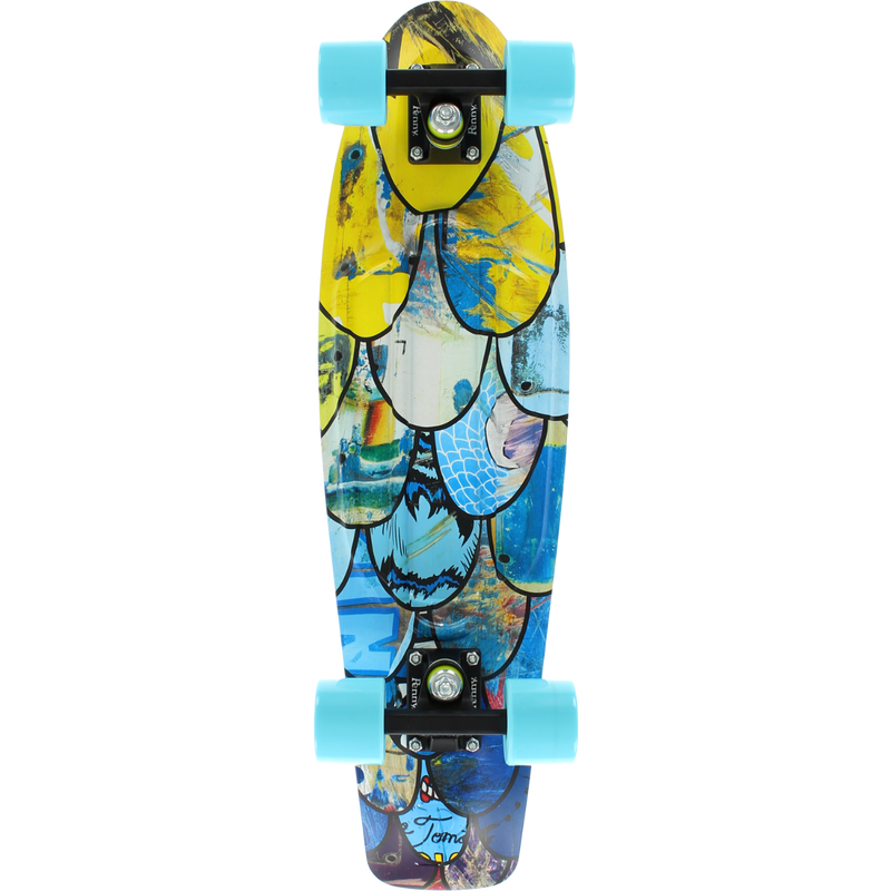 Penny 27 Inch Plastic Waffle Top Mini Cruiser: I Ride I Recycle