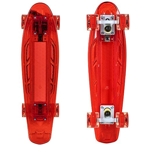 "Rekon 22"" Complete LED Light Up Mini Cruiser Skateboard"