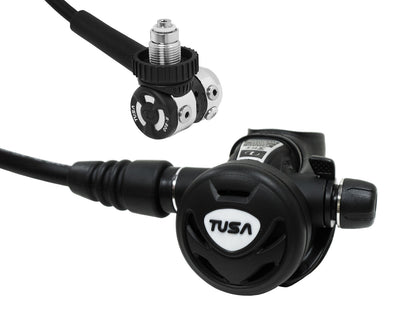 TUSA Balanced Piston DIN Regulator with AFS, Control Knob, Swivel Hose