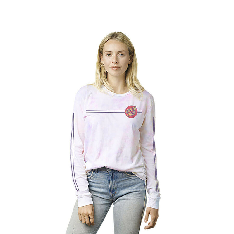 Santa Cruz Women's Other Dot Stripes L/S Relaxed Crew T-Shirt