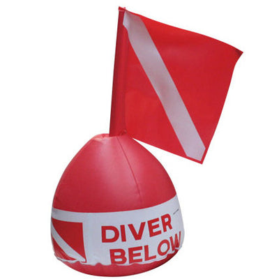 Flag-N-Float Diver Below Inflatable Buoy with Flag