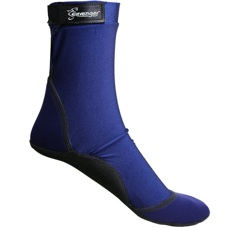 tall dark blue beach socks