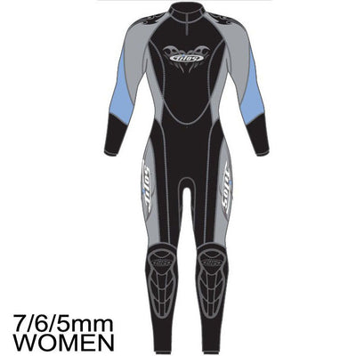 7/6/5mm Zenith Supreme Stretch D-Zip Fullsuit - Women