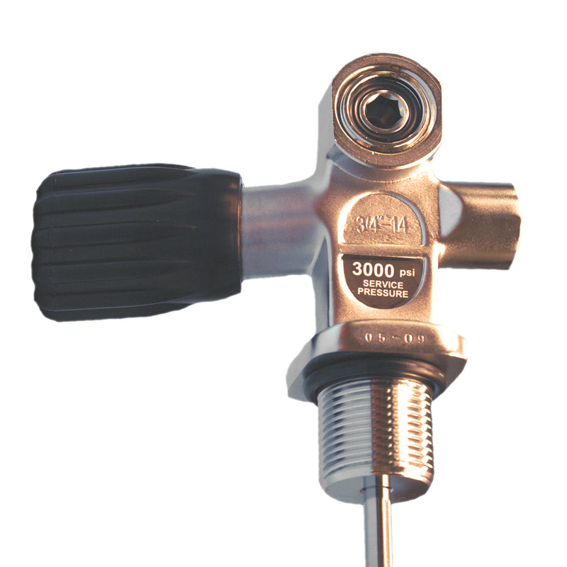 Trident 3/4 Inch, 300psi Combination Yoke and DIN Tank Valve