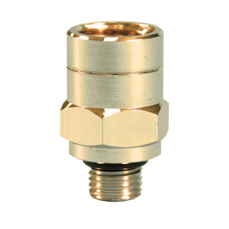 "1/4"" NPT Female to 3/8"" NPT Male Chromed Regulator Adapter"