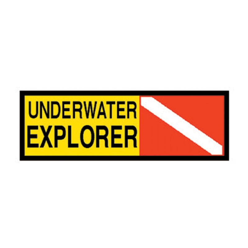 Trident High Gloss Vinyl Underwater Explorer Sticker