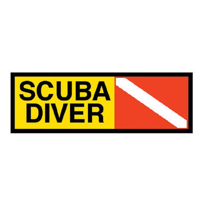 Trident High Gloss Vinyl Scuba Diver Sticker
