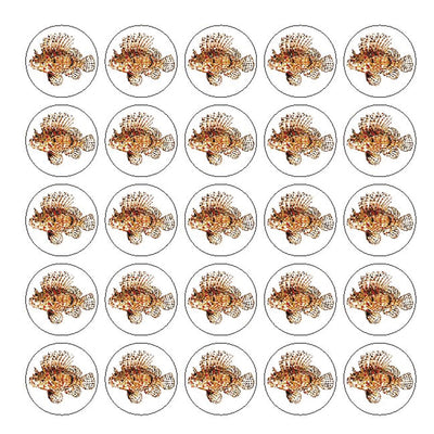 Lionfish 25Pc Sticker Sheet