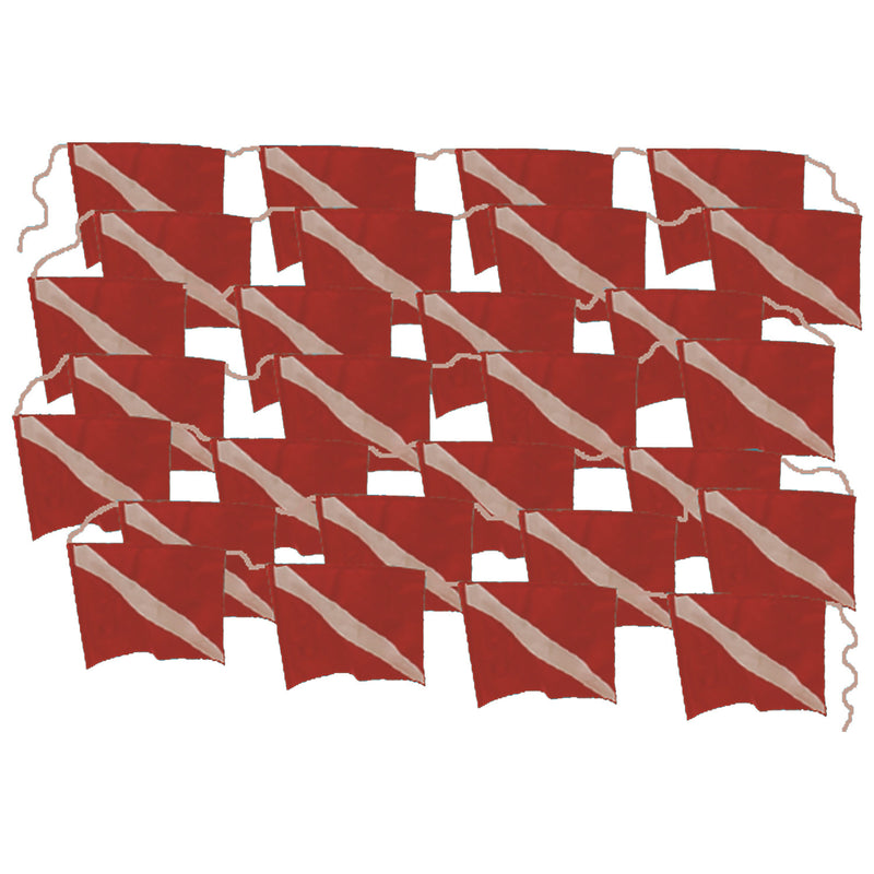Trident Diver Down Flag String Banner, 100 Feet