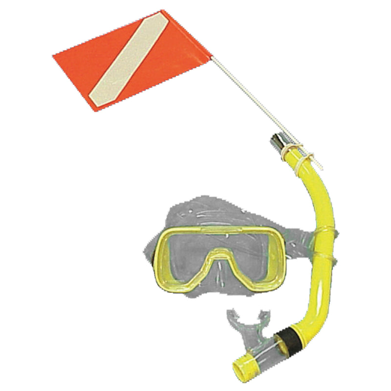 Trident Snorkeler's Diver Down Safety Flag with Mount