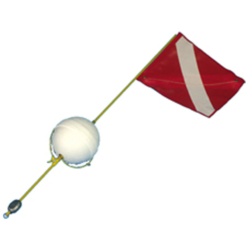 Trident Standard One Piece 4ft (1.22m) Flag Float with Foam Ball