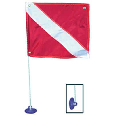 Trident Suction Cup Mount 30 Inch (76.20cm) Diver Down Flag Pole