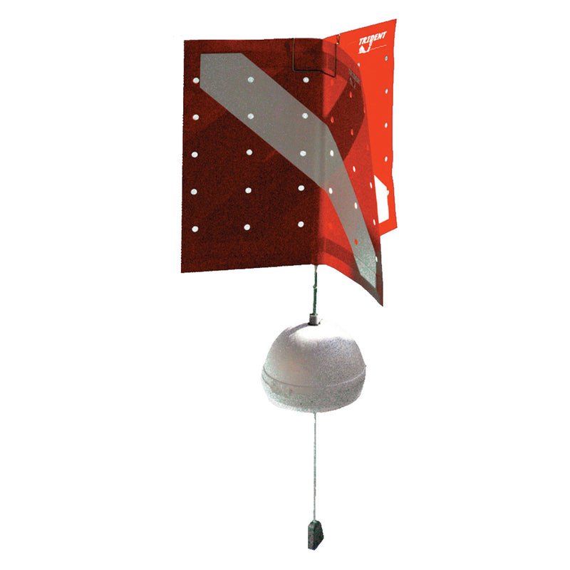 Trident Floating Surface Buoy with Diver Down Tri-Flag