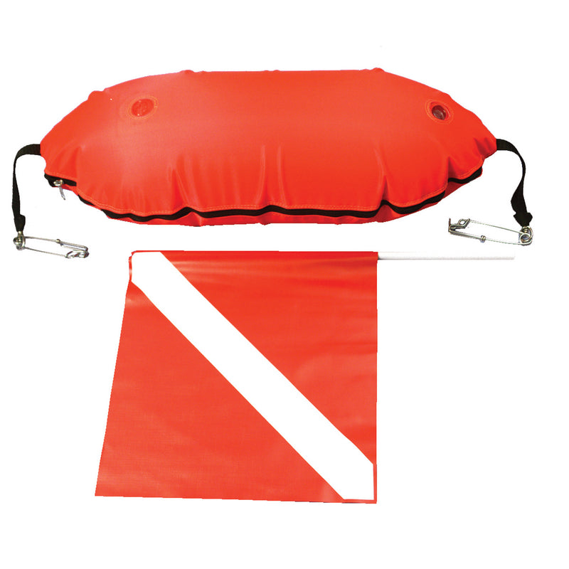 Trident Torpedo Buoy with Diver Down Flag for Spearfishing
