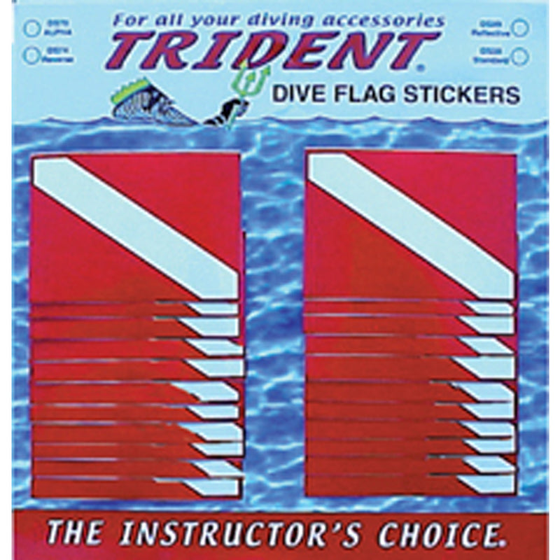 Sticker Board With Standard 48 Dive Flag Stickers
