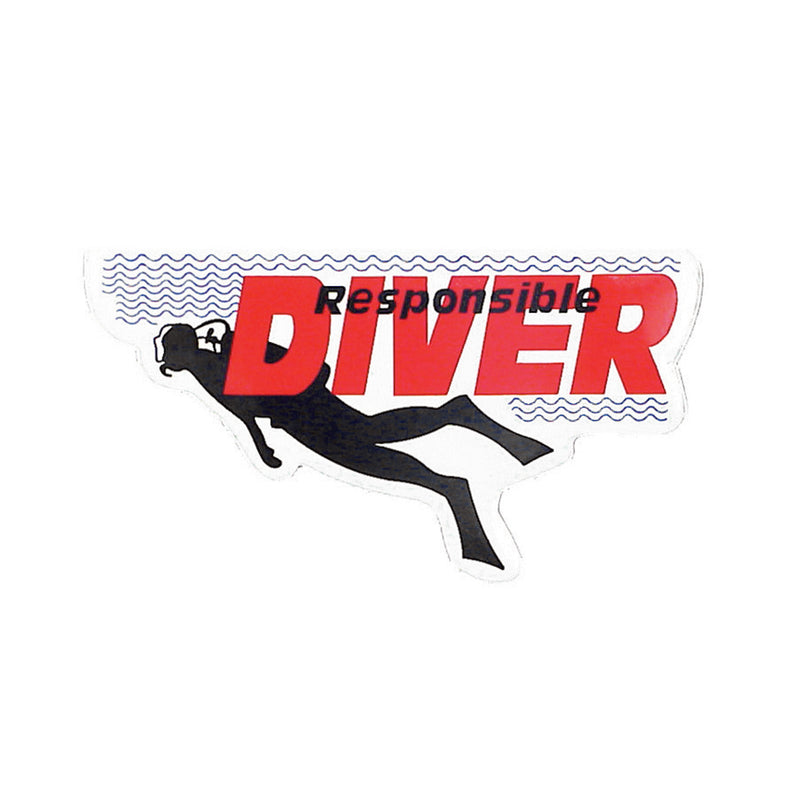 Responsible Diver Sticker With Swimming Diver