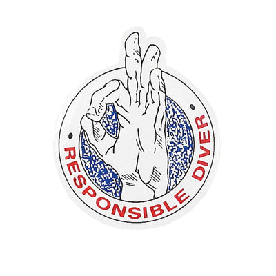 Responsible Diver Sticker Round Style