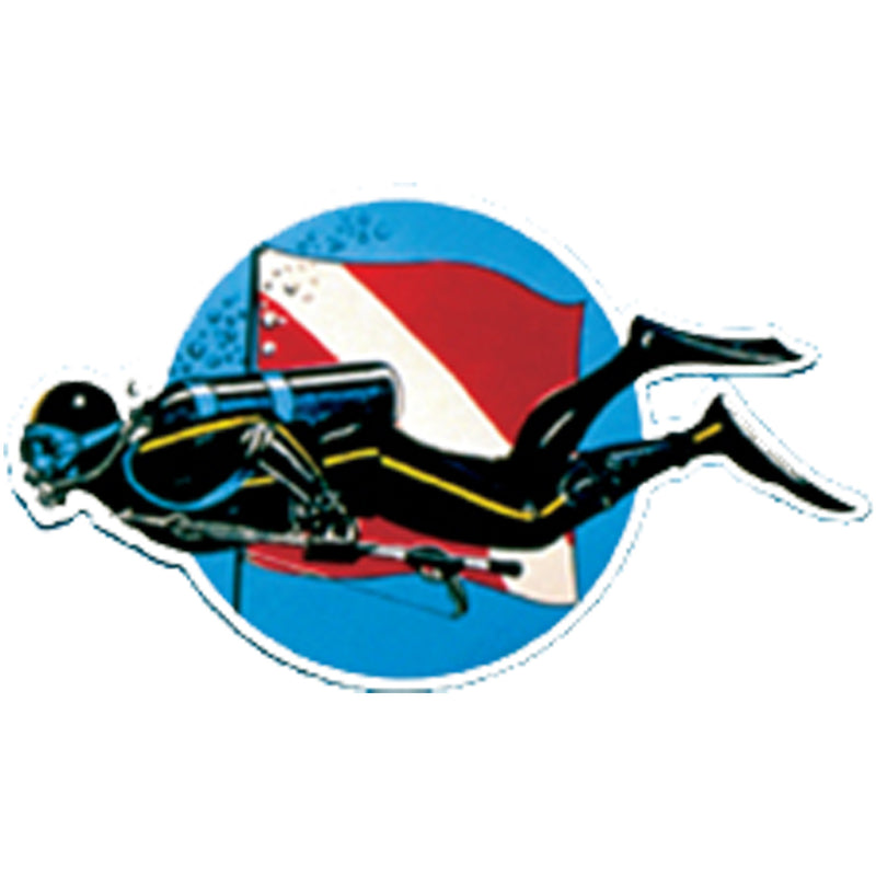 Large Smimming Diver Sticker